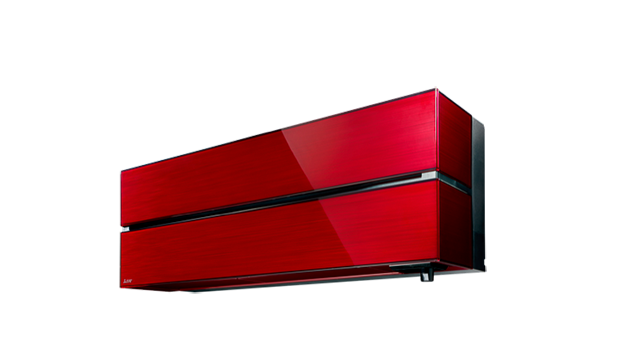 Mitsubishi Electric ilmalämpöpumppu punainen sisäyksikkö